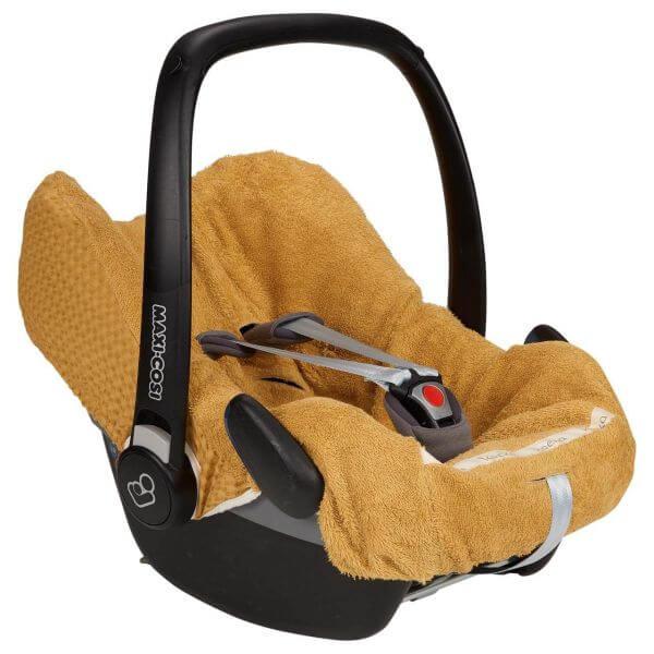 Koeka Bezug für Babyschalen Antwerp ochre 3-Punkt Gurt