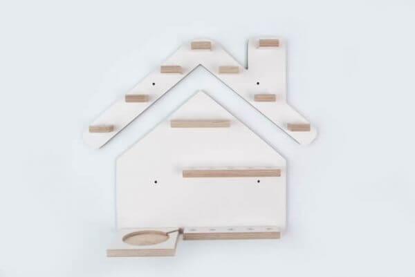 Kleine Schreiner Regal Haus magnetisch für 21 Tonie-Figuren Rosa_KS00005R