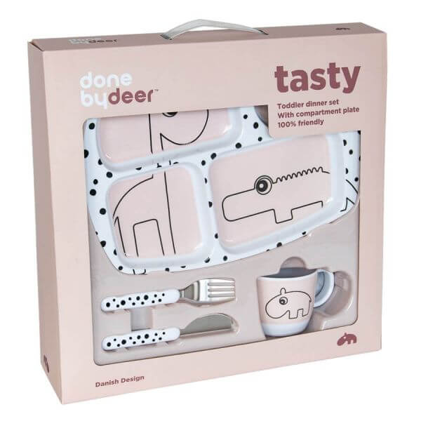 Done by Deer Geschirr Set Tasty Rosa