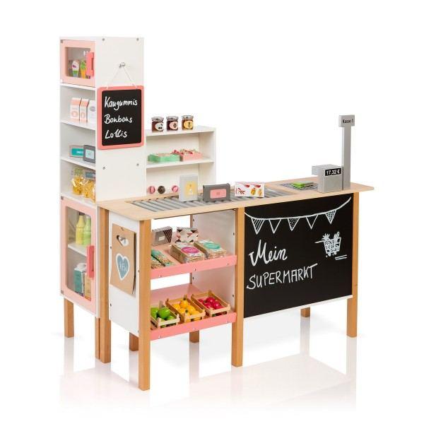 MUSTERKIND® Kaufladen Supermarkt Alnus Weiß/Apricot