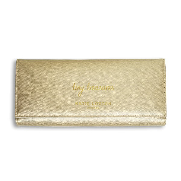 "Katie Loxton Schmuckrolle ""Tiny Treasures"" Gold 10x22x2,5 cm"