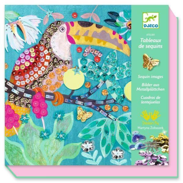 Djeco Kreativset Pailletten Kunst Flamboyant_DJ09521