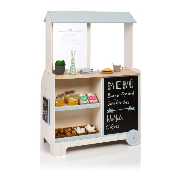 MUSTERKIND® Kaufladen Street Kitchen Piperis Creme/Graublau