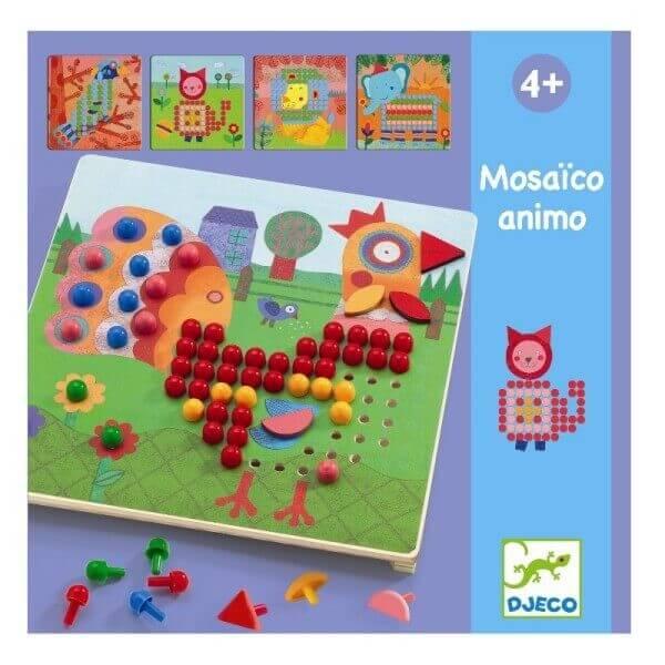 Steckspiel Mosaik Tiere, Djeco