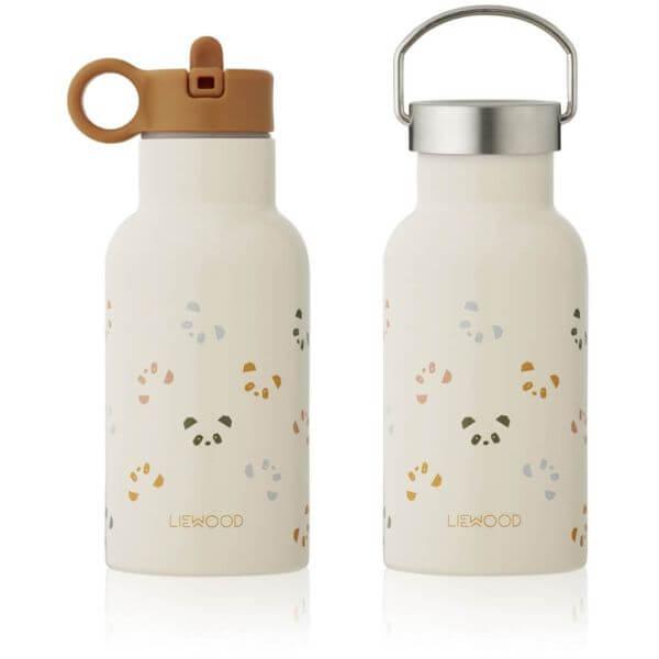 Liewood Trinkflasche für Kinder in Weiß/Senfgelb_LW13072-5077