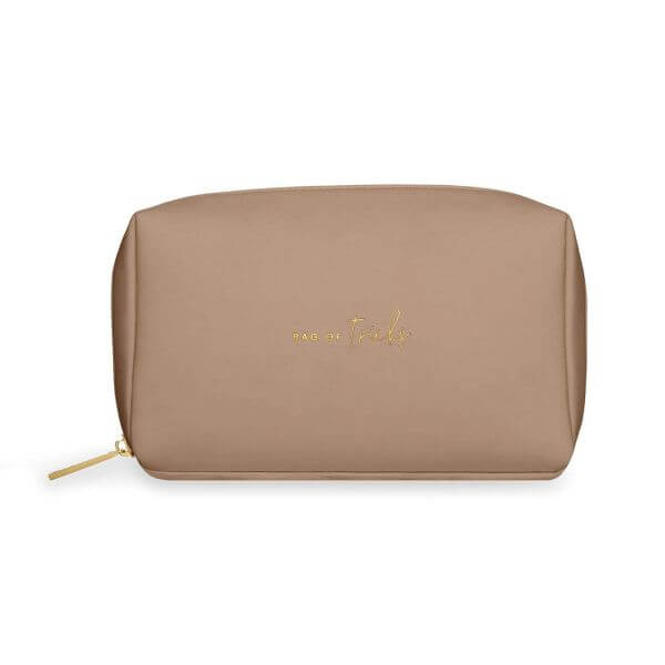"Katie Loxton Make-Up Tasche ""Bag Of Tricks"" Braun 12x21x7cm-Copy"