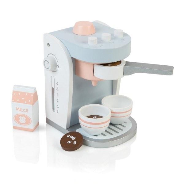 MUSTERKIND® Kaffeemaschine Olea Weiß/Graublau