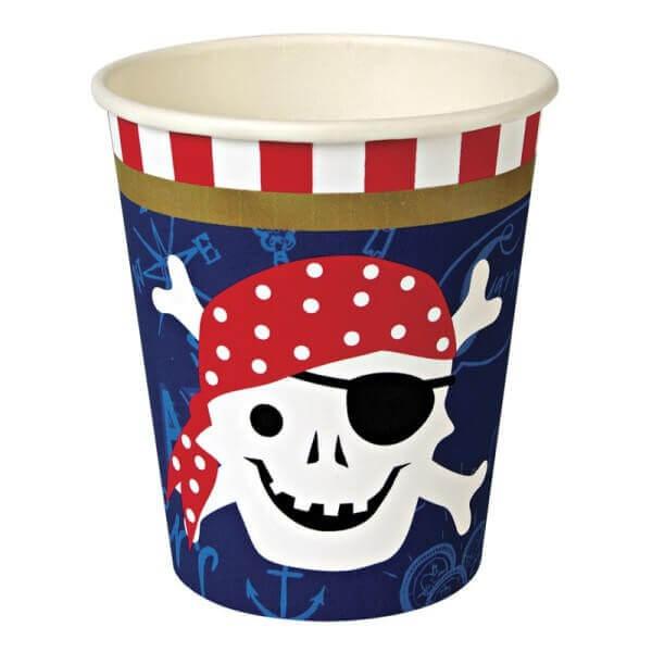 Piraten Pappbecher, Meri Meri