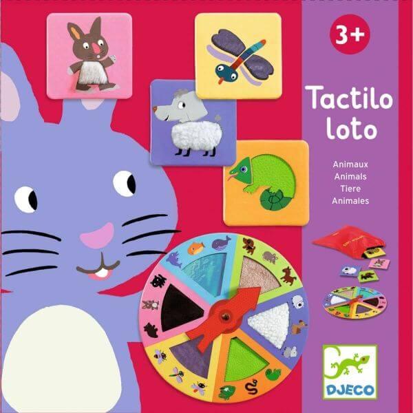 Djeco Spiel Tactilo Lotto Tiere