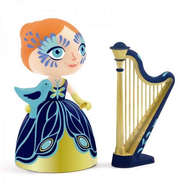 Djeco Arty Toys Spielfigur Prinzessin Elisa mit Harfe