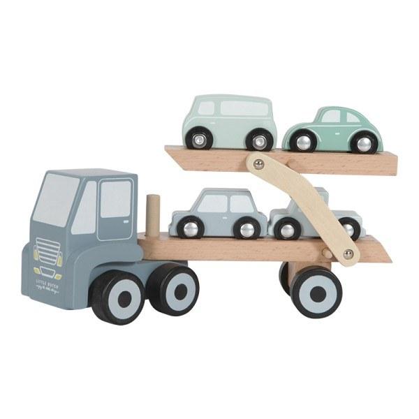 Little Dutch Autotransporter aus Holz in Blau