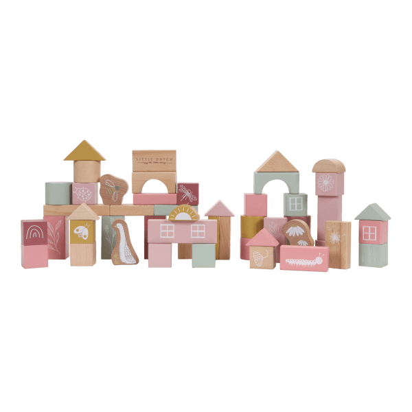 Little Dutch Holzbausteine in Box Pink_LD7018