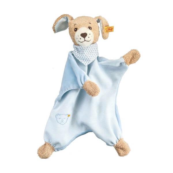 Steiff Gute Nacht Hund Schmusetuch Blau