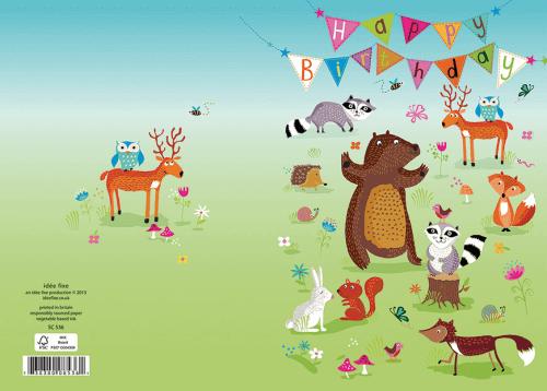 Roger la Borde Doppelkarte Geburtstag Tanzender Bär