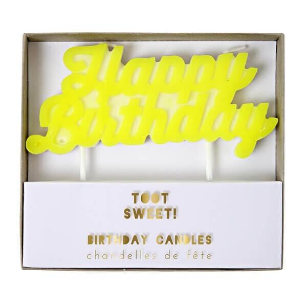 Geburtstagskerze Happy Birthday, Meri Meri