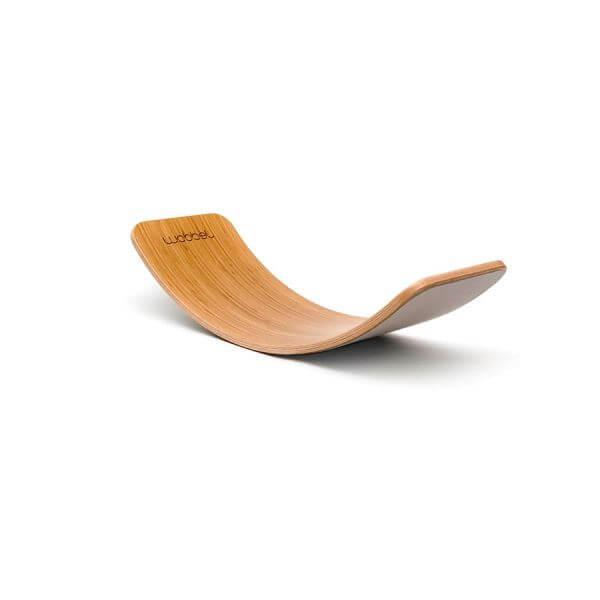 Wobbel Balance Board Original Bambus Filz Hellgrau_WOB-ORIGINAL-BAMBOO-BABYMOUSE