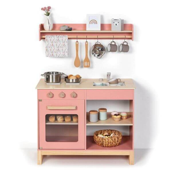 MUSTERKIND® Kinderküche Magnolia Altrosa/Natur_MK114