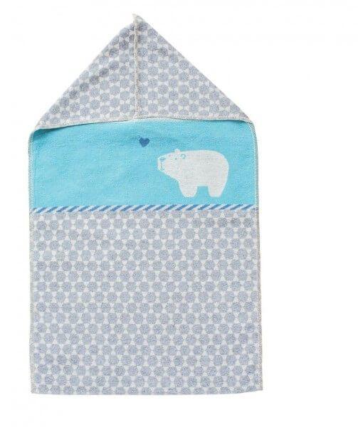 david fussenegger babydecke mit kapuze eisb r blau auf rechnung bestellen. Black Bedroom Furniture Sets. Home Design Ideas