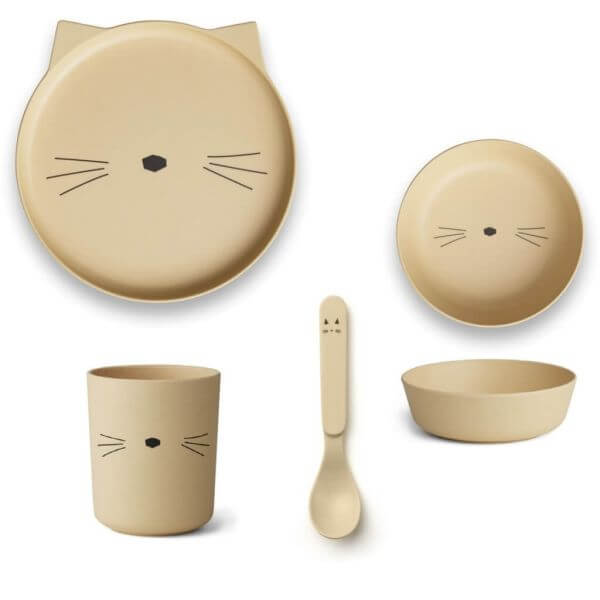 Liewood Geschirr-Set Katze Gelb_LW12393