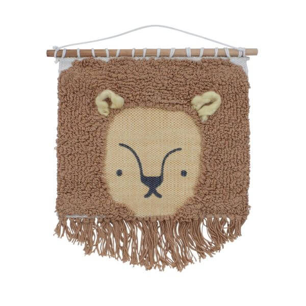 Sebra gewebter Wandbehang Wildleben Löwe