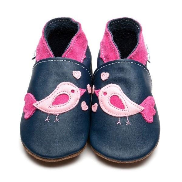 Inch Blue Babyschuhe Outdoor Vogel Blau/Rosa