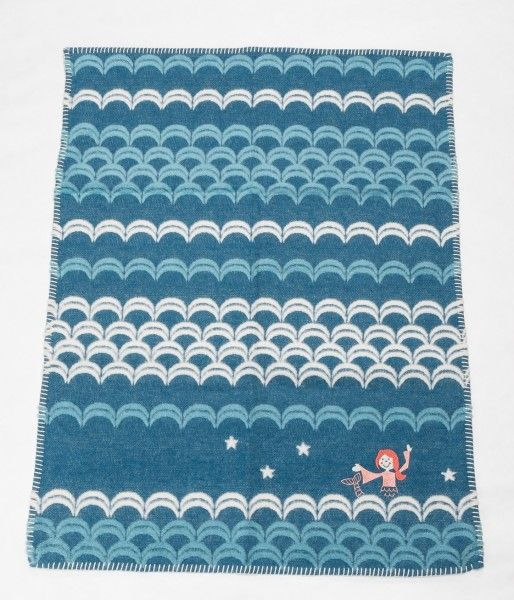 David Fussenegger Kinderdecke FINN Stick Meerjungfrau pacific 65x90 cm