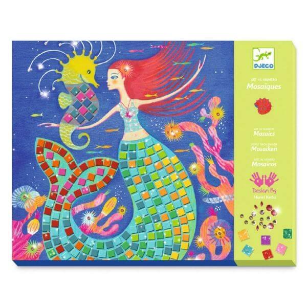 Djeco Bastelset Mosaik Bilder Meerjungfrau