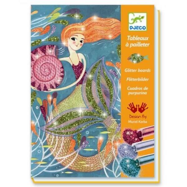 Kreativset Glitzerbilder Meerjungfrauen, Djeco