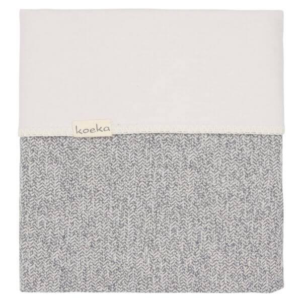 Koeka Bassinet Decke Flanell Vigo sparkle grey/pebble_KOE-1069-0003-640-230