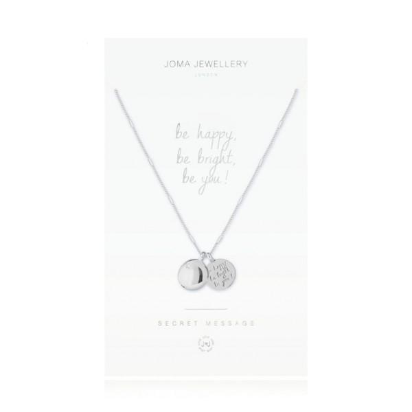 """Joma Jewellery Kette Secret Message """"Be Happy"""" Silber"""