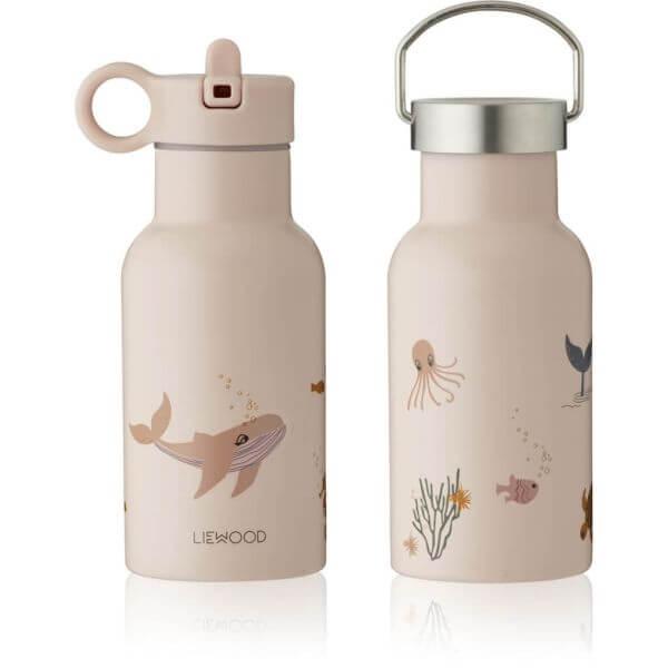 Liewood Trinkflasche für Kinder Unterwasserwelt rosa_LW13072-0286